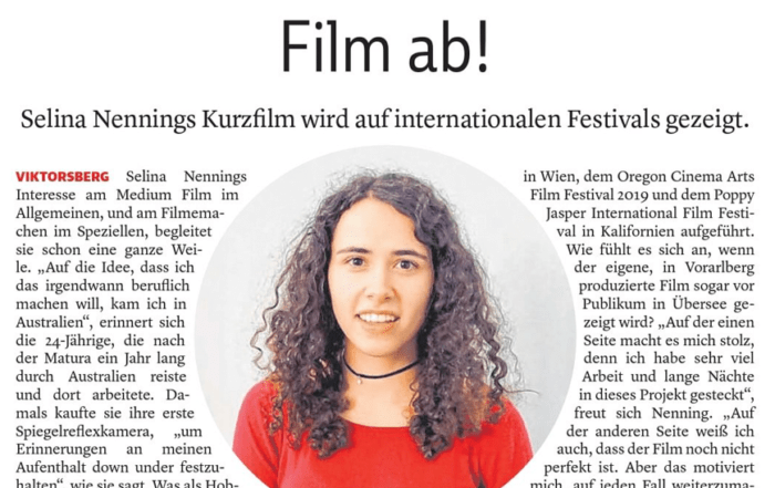 Film ab, Selina Nenning